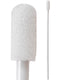 "(Bag of 500 Swabs) 71-4557: 4"" Overall Length Swab with Small Foam Mitt on a Polypropylene Handle"