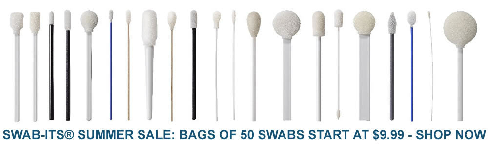 Swab-its 71-4500 square head foam swab