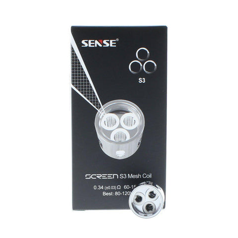 Sense S3 Triple Mesh Coil-Replacement Coils-Free w/ 2 Bottles o2pur E-liquid - use code FREE2-0.34ohm-FREEBOXMOD.COM