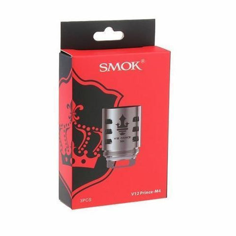 Smok TFV12 Prince M4 Coil-Replacement Coils-Free w/ 1 Bottle o2pur E-liquid - use code FREE1-0.17ohm-FREEBOXMOD.COM