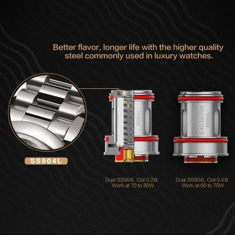 Uwell Crown 4 IV Coil-Replacement Coils-Free w/ 1 Bottle o2pur E-liquid - use code FREE1-0.2ohm-FREEBOXMOD.COM