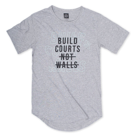 Veniceball Build Courts Not Walls Elongated T-Shirt
