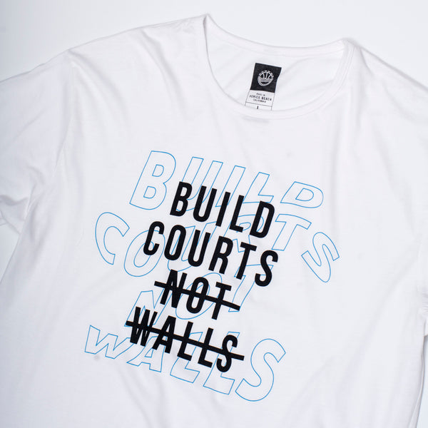 Build Courts Not Walls Elongated T-Shirt
