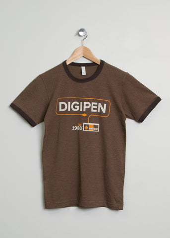 Brown Ringer Gamer Shirt