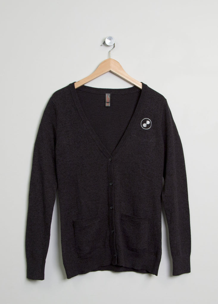 DigiPen Charcoal Button-Up Cardigan