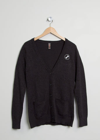 Charcoal Button-Up Cardigan
