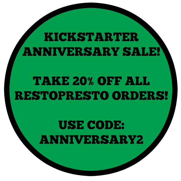 Save 20% on all RestoPresto orders before midnight on 10/29!