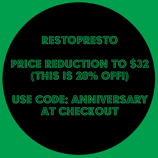 RestoPresto is ON SALE!
