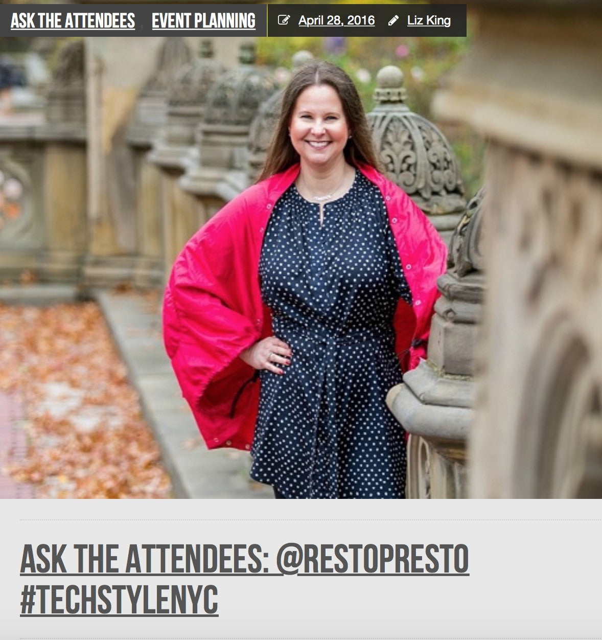 techsytalk talks to RestoPresto Founder Candi Obrentz about New York Fashion Week