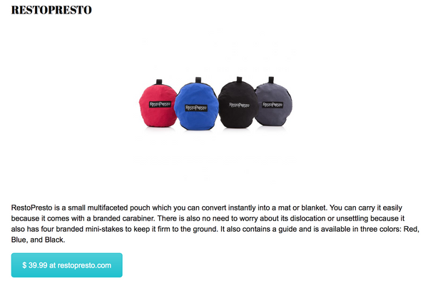 "RestoPresto featured in RebatesZone's ""Best Gift Ideas Under $100"" Guide"
