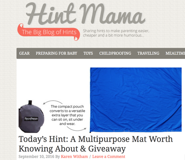Hint Mama & RestoPresto Team up for a Giveaway!