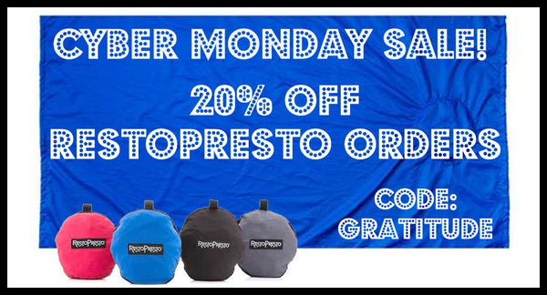 RestoPresto Cyber Monday 20% off sale!