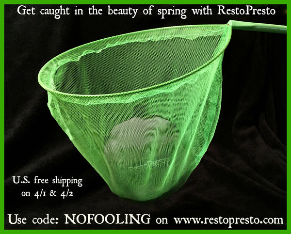 No fooling!! FREE SHIPPING for RestoPresto orders on 4/1 & 4/2!