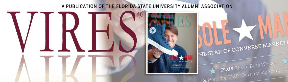 Shout Out in the Florida State University Alumni Association VIRES Magazine