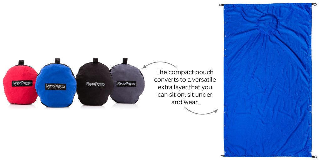 RestoPresto compact pouch converts to a soft wearable blanket