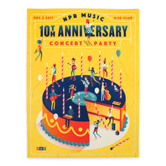 NPR Music 10th Anniversary Signed Poster and Patch