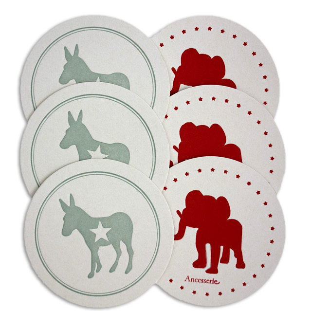 Political Party Coasters