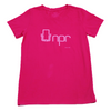 Organic Cotton Retro 70's T-shirt: Fuchsia