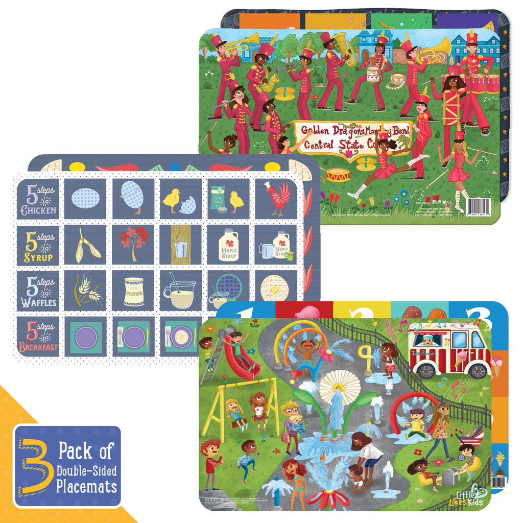 Toddler Placemats Variety 3-Pack