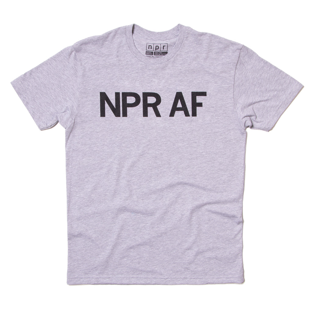 NPR AF Tee: Heather Grey