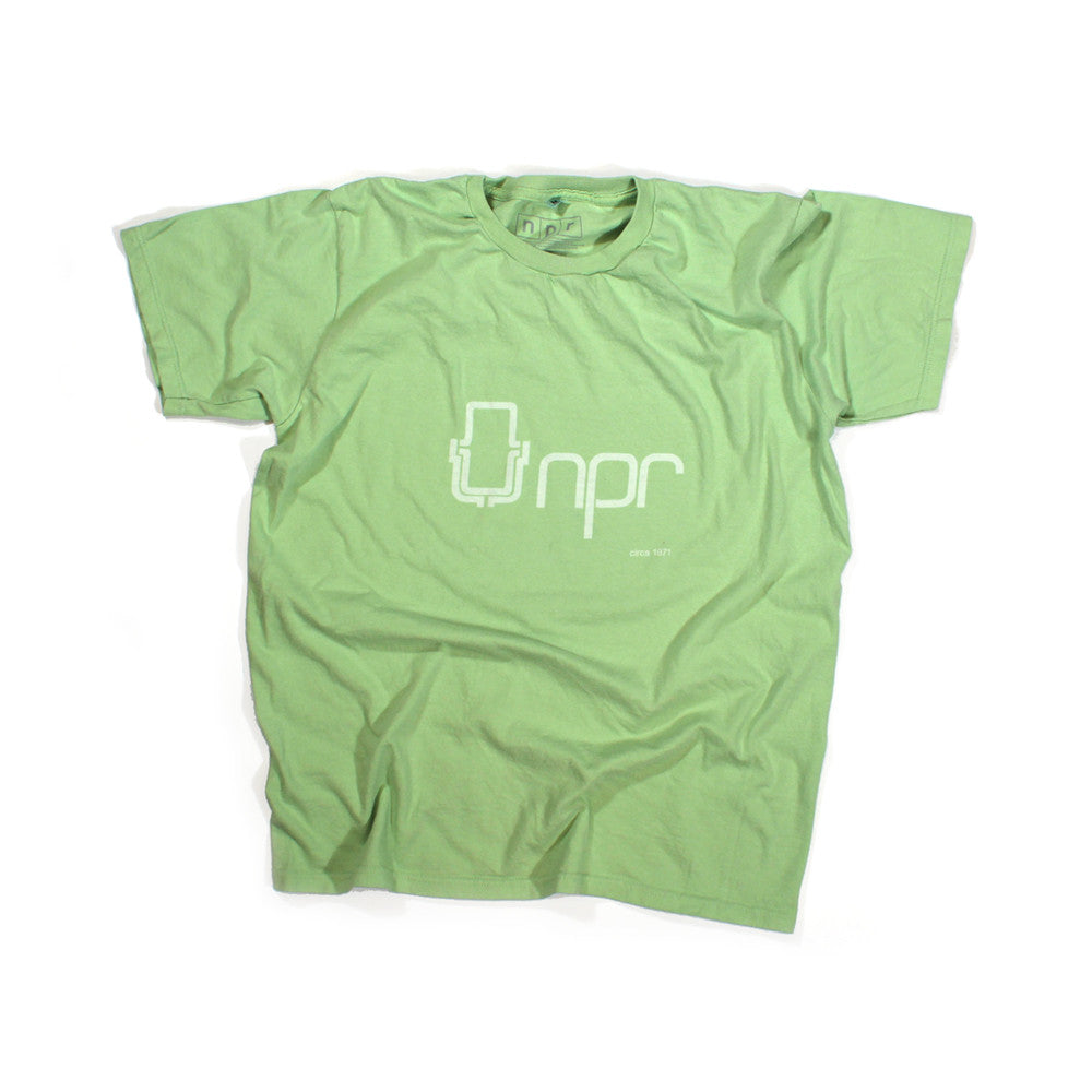 Retro 70s Logo T-Shirt:  Green Pea