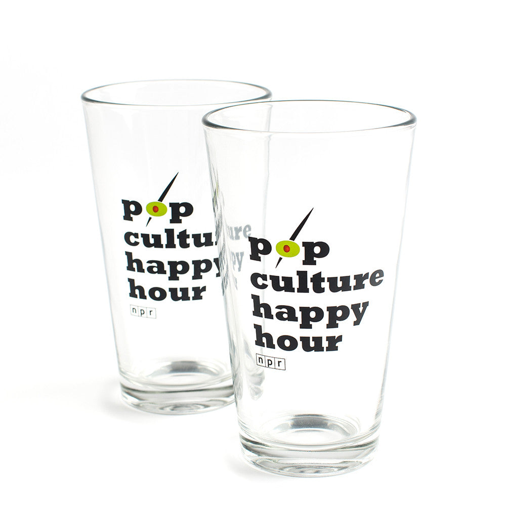 Pop Culture Happy Hour Pint Glasses