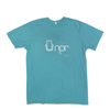 Organic Cotton Retro 70's T-shirt: Teal