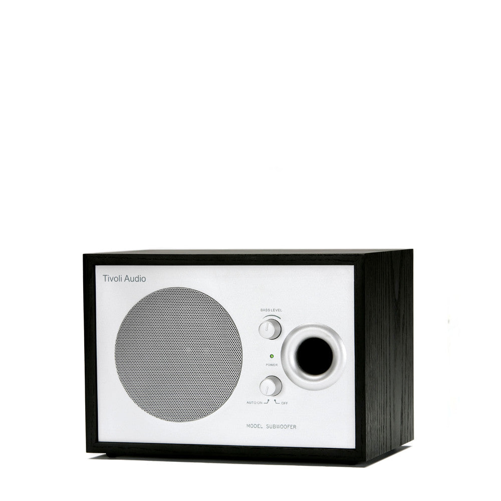 Tivoli Model Subwoofer: Black Ash/Silver