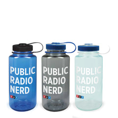 Public Radio Nerd Nalgene Bottle: 32 oz. Set of Three