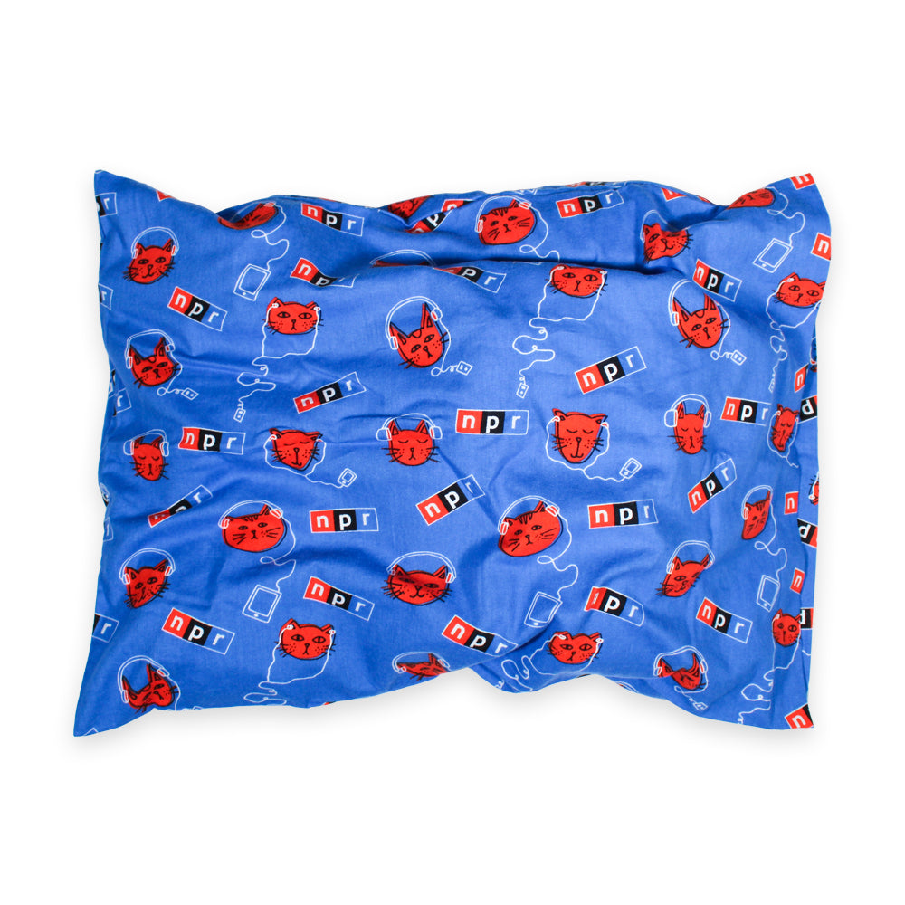 Podcats Flannel Pillowcase