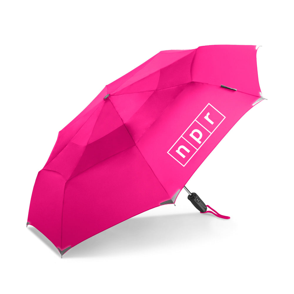 NPR Logo Umbrella Hot Pink