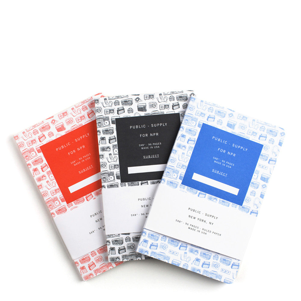 Public-Supply Notebooks:  Set of 3