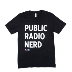 Public Radio Nerd T-Shirt: Black