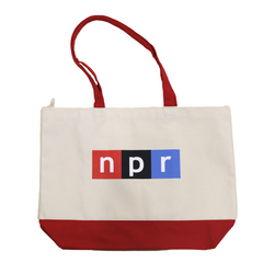 Classic NPR Red Bottom Tote