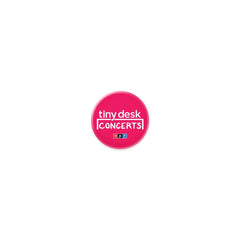 Tiny Desk Button: Pink