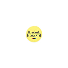 Tiny Desk Button: Yellow