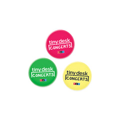 Tiny Desk Buttons: Set of 3