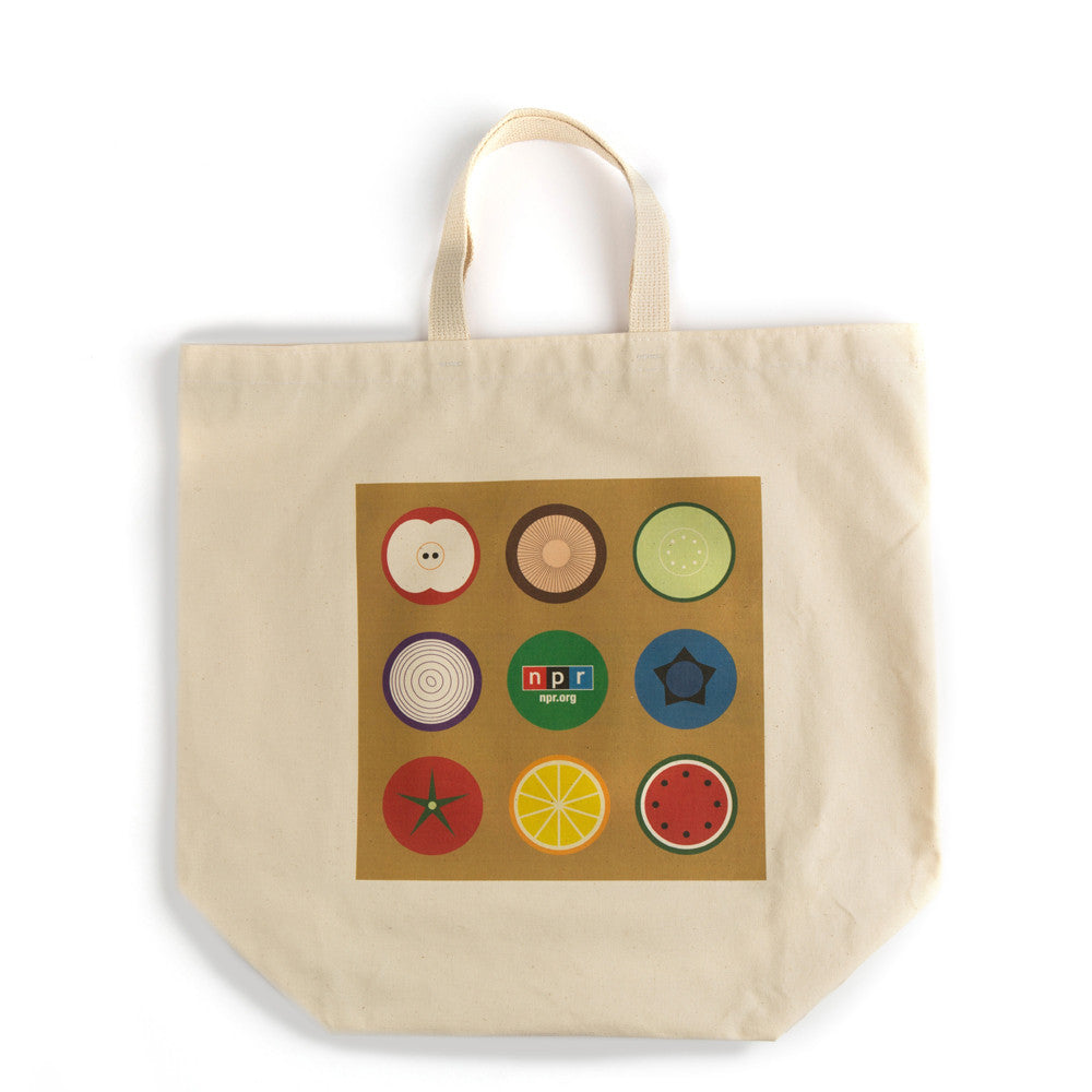 NPR Organic Cotton Grocery Tote: Large