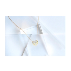 Sunray Half Circle Necklace w/ Opal