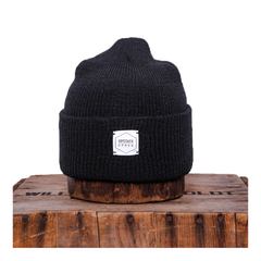 Black Recycled Cotton Watchcap