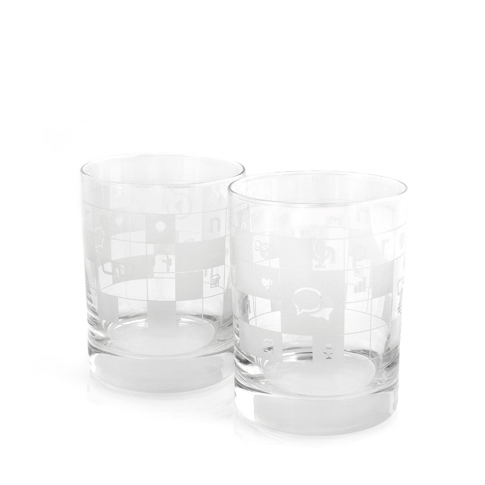 NPR Double Old Fashioned Glasses Set