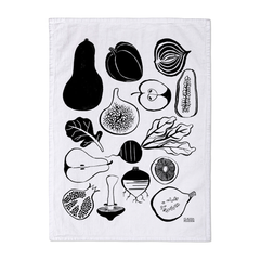 Fruit and Vegetables Deluxe Tea Towel