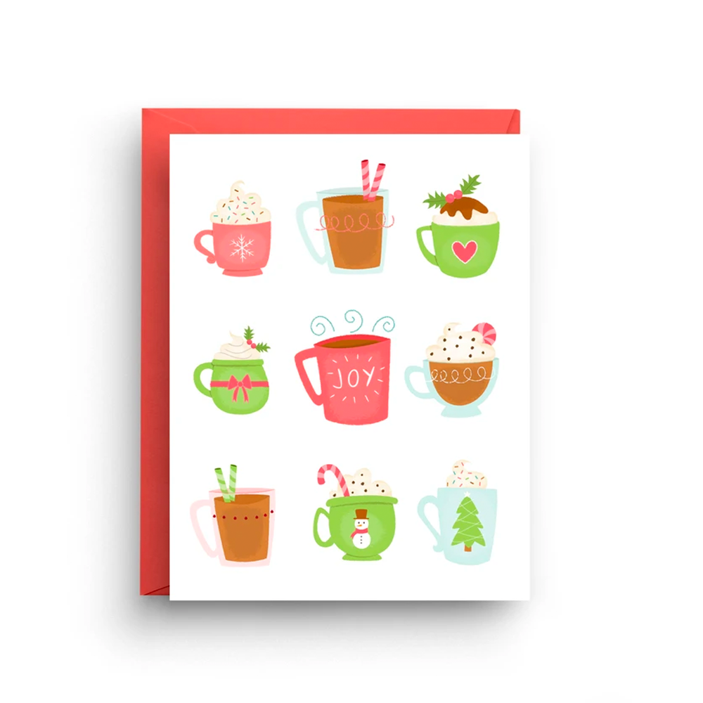 Holiday Mugs Card- Boxed Set of 6