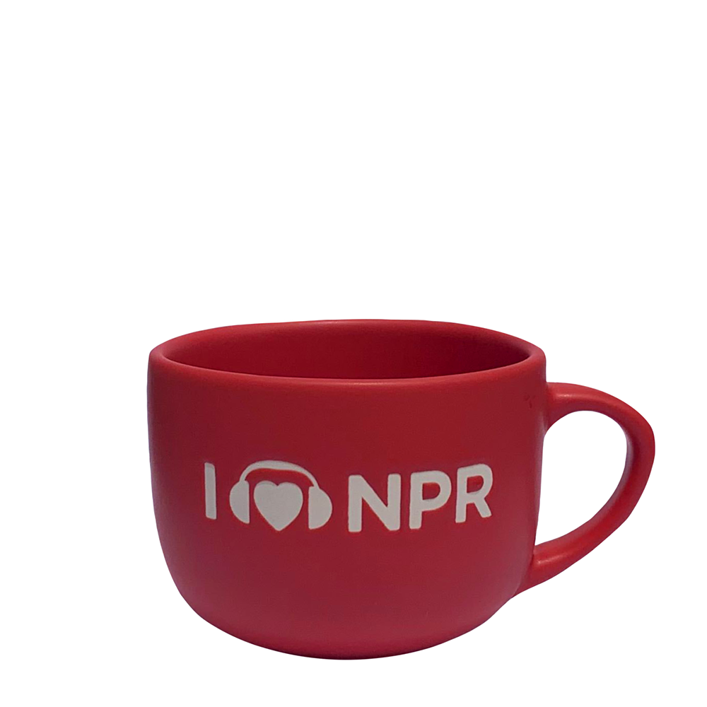 I Heart NPR Red Soup Mug