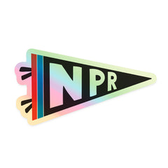 NPR Holographic Flag Sticker
