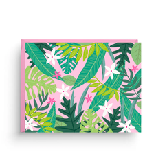 Pink Palm Print- Boxed Set of 6