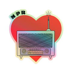 I Heart Radio Holographic Sticker