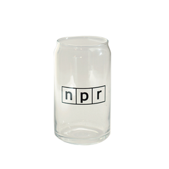 NPR Soda Can Glass