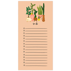 Tall Plants To Do Notepad