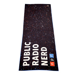 Public Radio Nerd Beach Towel